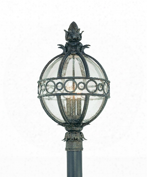 "Campanile 14"" 3 Light Outdoor Outdoor Post Lamp In Campanile Bronze"