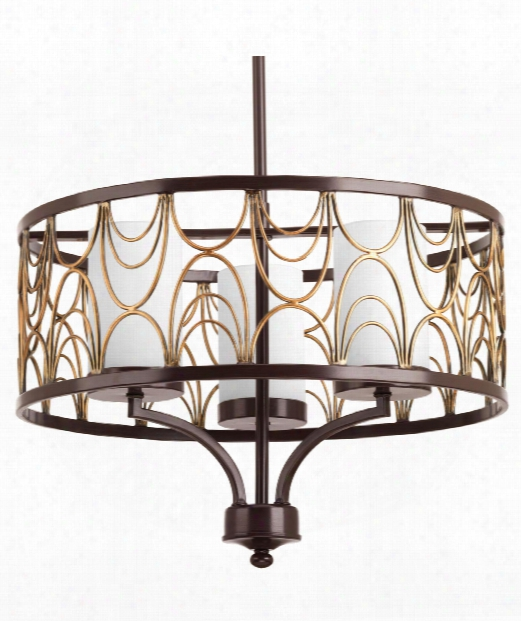"Cirrine 18"" 3 Light Mini Chandelier In Antique Bronze"