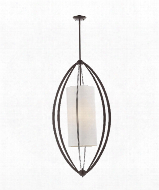"Connor 21"" 3 Light Foyer Pendant In Oil Rubbed Bronze"