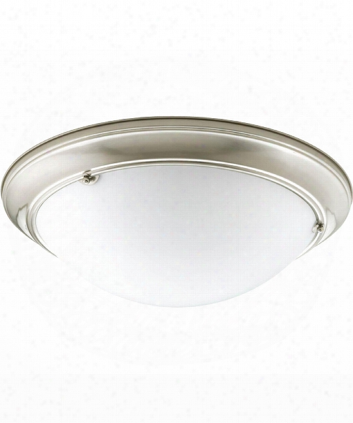 "Eclipse 19"" 3 Light Flush Mount In Brushed Nickel"