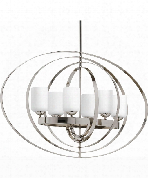 "Equinox 14"" 6 Light Mini Pendant In Polished Nickel"