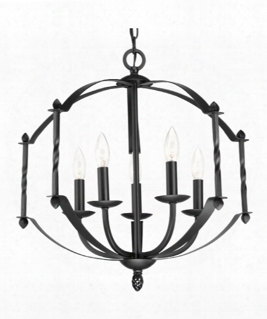 "Greyson 22"" 5 Light Mini Chandelier In Murky"