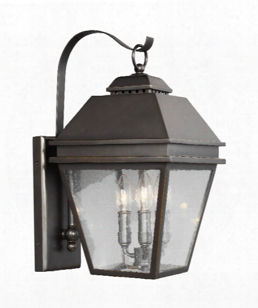 "Herald 10"" 3 Light Outdoor Outdoor Wall Light In Antique Bronze"