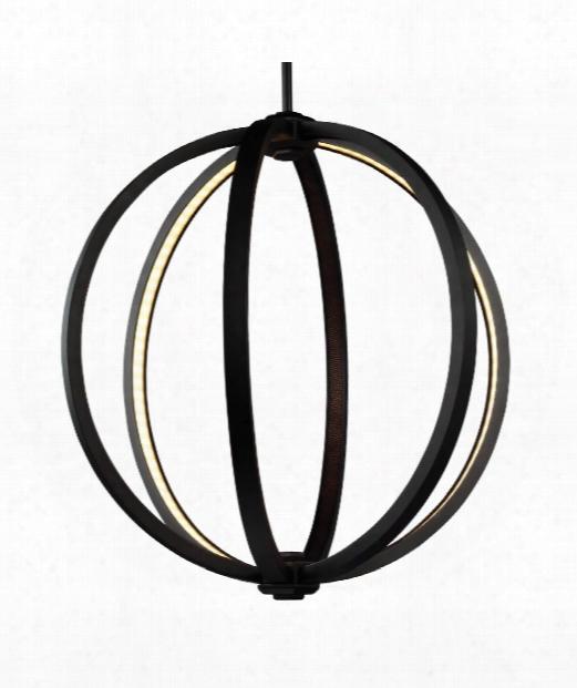 "Khlo E 20"" Led 3 Light Large Pendant In Oil Rubbed Bronze"