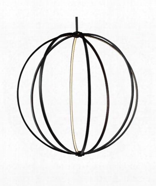 """Khloe 48"""" Led 4 Light Large Pendant In Oil Rubbed Bronze"""