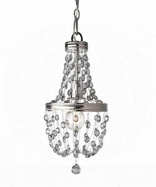 "Malia 8"" 1 Light Mini Pendant In Polished Nickel"