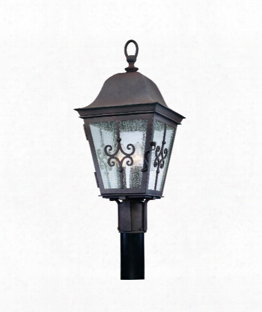 "Markham 10"" 3 Light Outdoor Outdoor Post Lamp In Weathered Bronze"