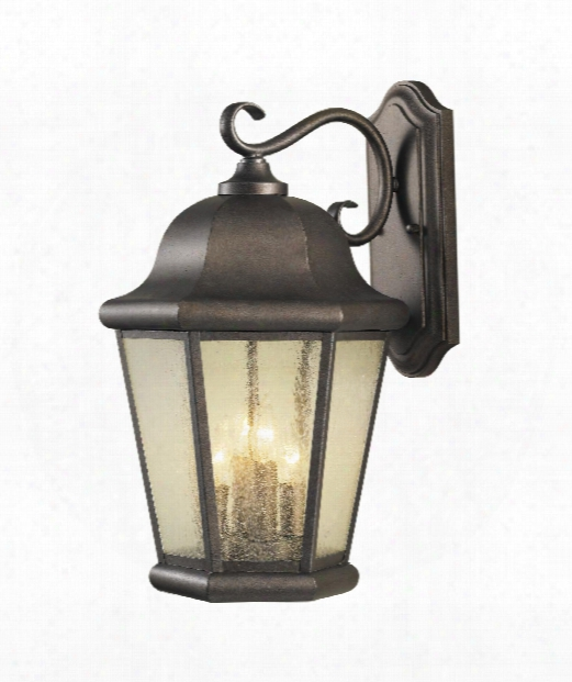 "Martinsville 12"" 4 Light Outdoor Outdoor Wall Light In Corinthian Bronze"