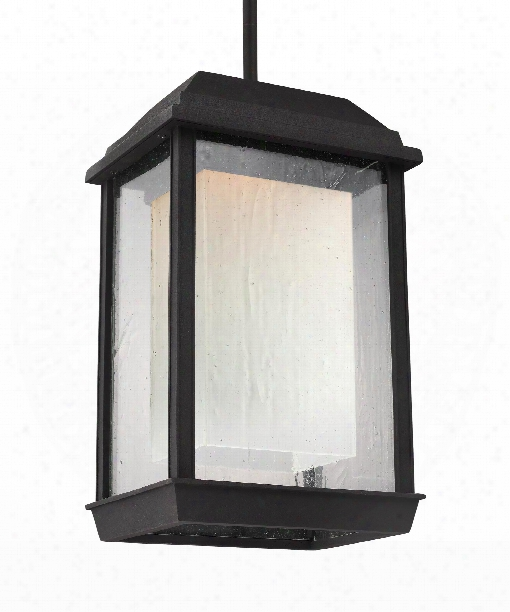 "Mchenry 8"" Led 1 Light Outdoor Hanging Lantern In Textured Black"