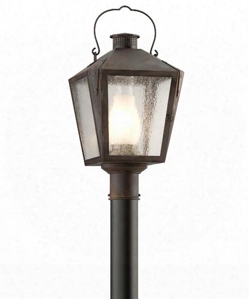 "Nantucket 11"" 1 Light Outdoor Outdoor Post Lamp In Charred Iron"