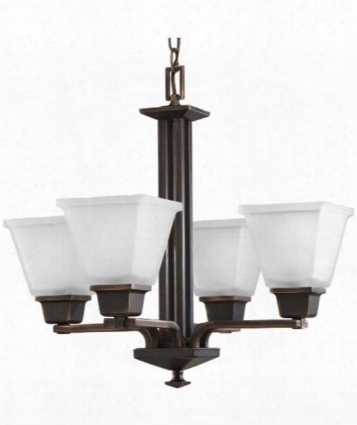 "North Park 21"" 4 Light Mini Chandelier In Venetian Bronze"