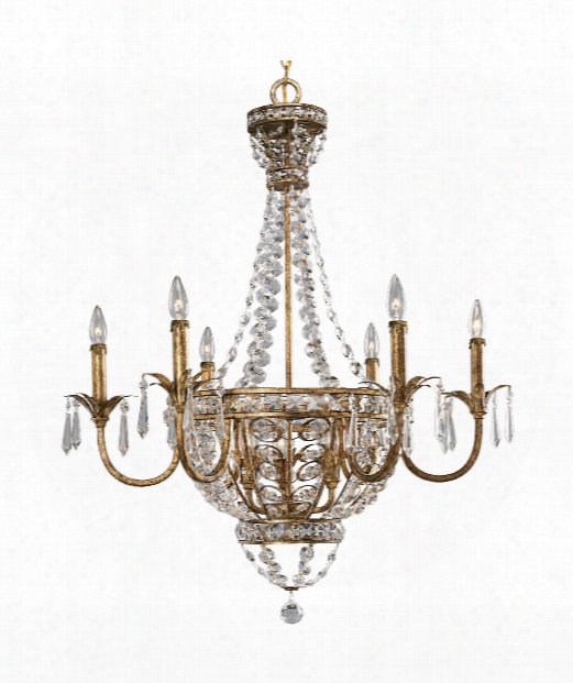"Palais 34"" 9 Light Chandelier In Imperial Gold"