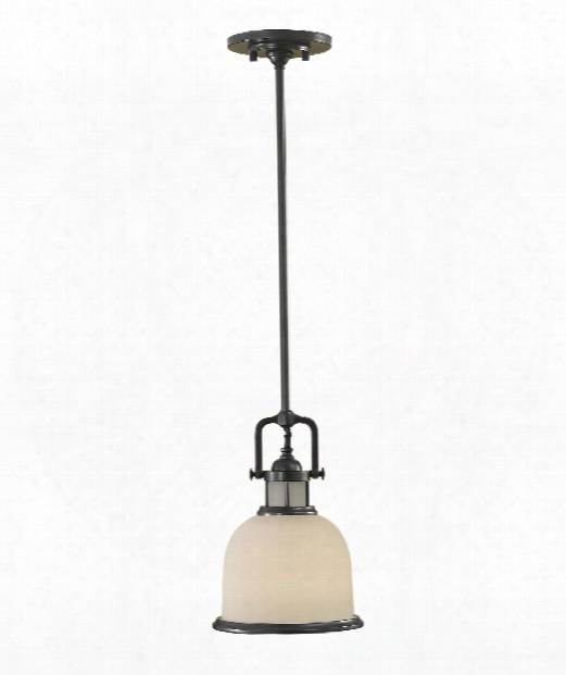 "Parker Place 8"" 1 Light Mini Pendant In Dark Bronze"