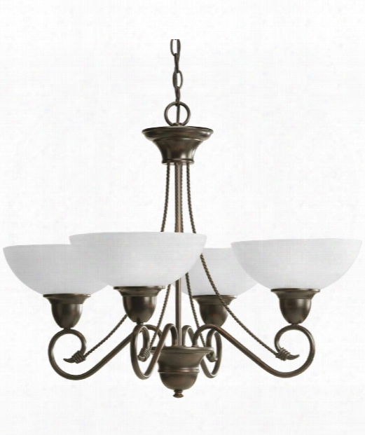 "Pavilion 28"" 4 Light Chandelier In Antique Bronze"