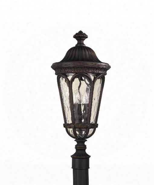 """Regent Court 11"""" 3 Light Outdoor Outdoor Post Lamp In Walnut"""