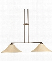 "Bravo 15"" 2 Light Island Light in Antique Bronze"