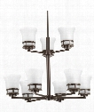 "Cascadia 30"" 9 Light Chandelier in Antique Bronze"