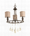 "Flourish 18"" 3 Light Mini Chandelier in Cognac"