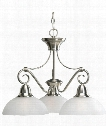 "Pavilion 24"" 3 Light Chandelier in Brushed Nickel"