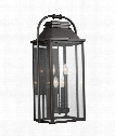 "Wellsworth 12"" 4 Light Outdoor Outdoor Wall Light in Antique Bronze"