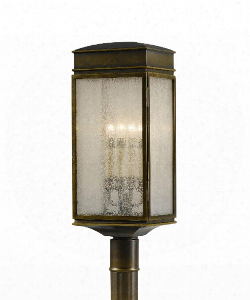 "Whitaker 9"" 4 Light Outdoor Outdoor Post Lamp In Astral Bronze"