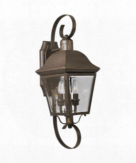 """Andover 8"""" 2 Light Outdoor Outdoor Wall Light In Antique Bronze"""
