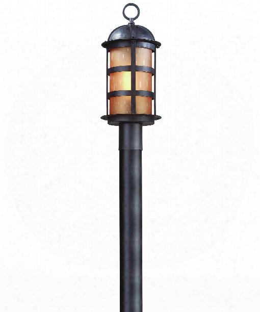 """Aspeen 8"""" 1 Light Outdoor Outdoor Post Lamp In Natural Bronze"""