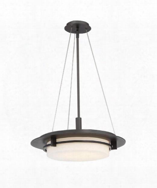 "Compass 20"" Led 1 Light Outdoor Outdoor Hanging Lantern In Bronze"