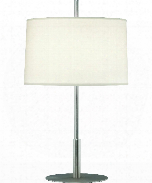 """Echo 8"""" 1 Light Table Lamp In Stainless Steel"""