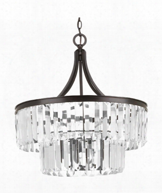 "Glimmer 22"" 5 Light Mini Pendant In Antique Bronze"