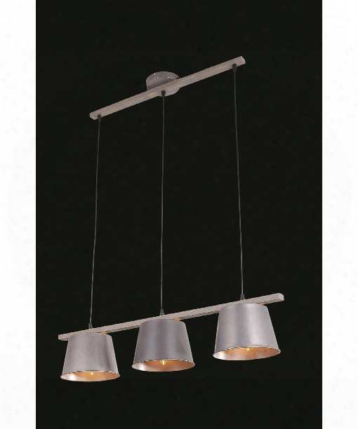 """Industrial 8"""" 3 Light Mini Pendant In Antique"""