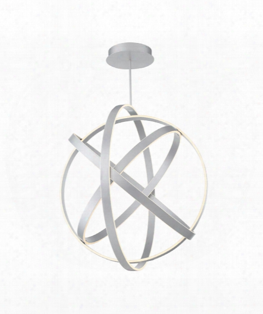 "Kinetic 38"" Led 1 Light Large Pendant In Titanium"