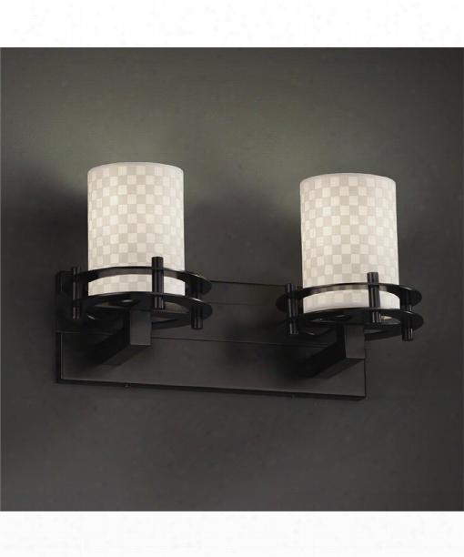 """Limoges 16"""" 2 Light Bath Vanity Light In Matte Blwck"""