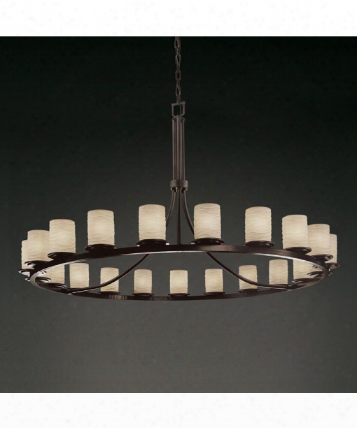 "Limoges Dakota 60"" 21 Light Chandelier In Dark Bronze"