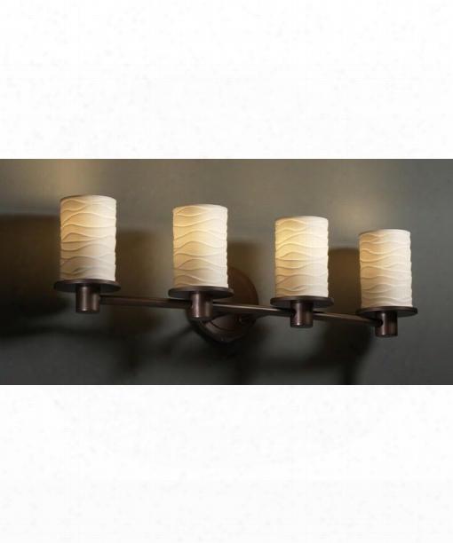 """Limoges Rondo 27"""" 4 Light Bath Vanity Light In Dark Bronze"""