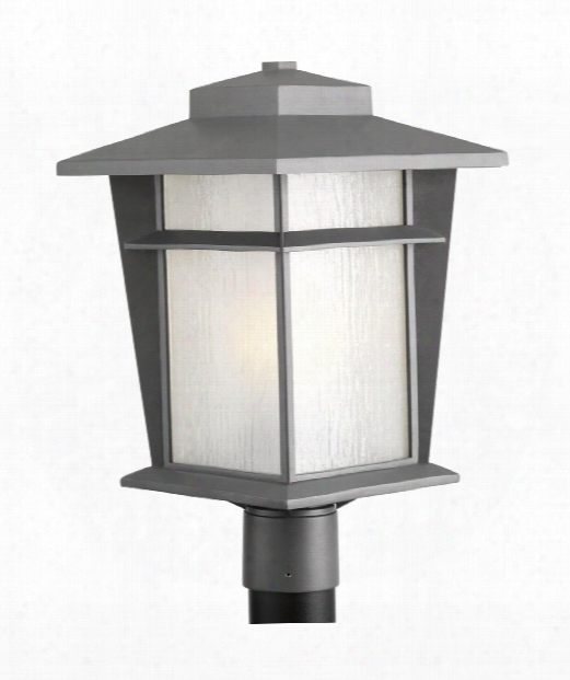 """Loyal 11"""" 1 Light Outdoor Outdoor Post L Amp In Textured Graphite"""