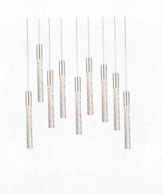 "Magic 2"" Led 9 Light Multi Pendant Light In Polished Nickel"