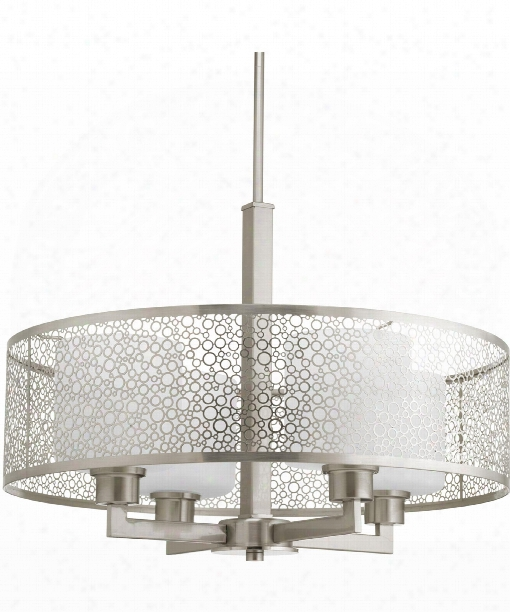 "Mingle 21"" 4 Light Large Pendant In Brushed Nickel"