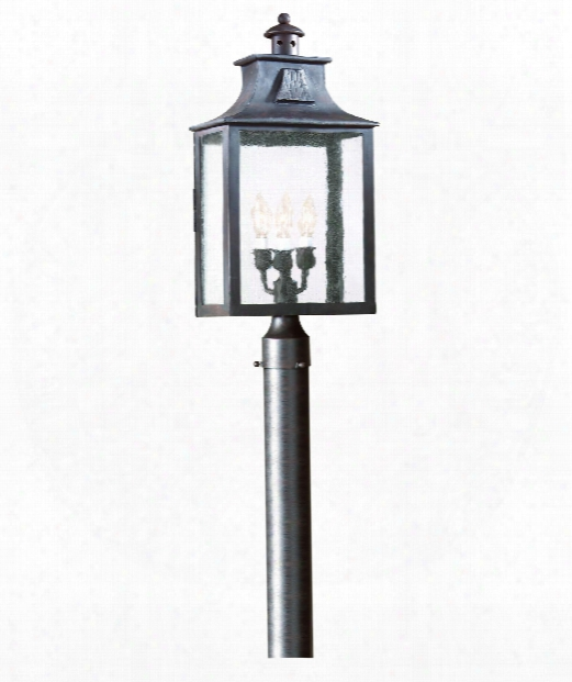 "Newton 11"" 3 Light Outdoor Outdoor Post Lamp In Old Bronze"