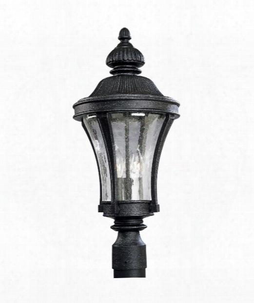 "Nottington 10"" 3 Light Outdoor Outdoor Post Lamp In Gilded Iron"