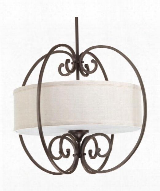 "Overbrook 22"" 3 Light Mini Pendant In Antique Bronze"