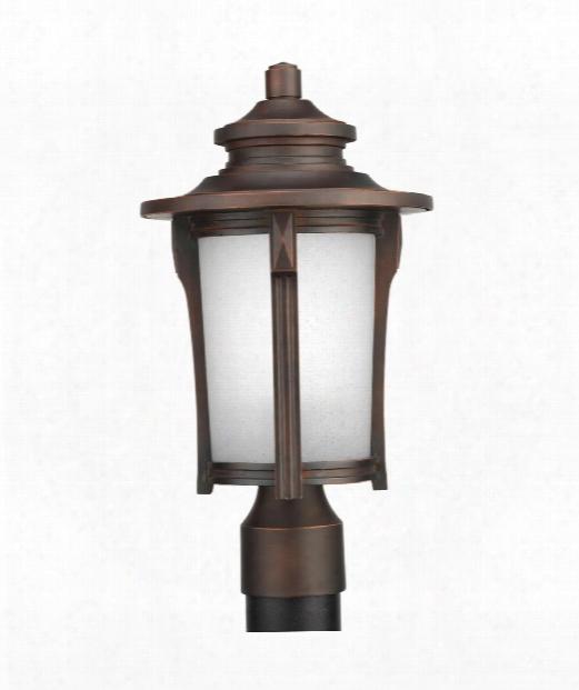 """Pedigree 9"""" 1 Light Outdoor Outdoor Post Lamp In Autumn Haze"""