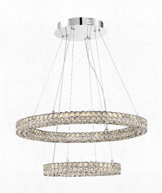 "Platinum Infinity 28"" Led 1 Light Large Penda Nt In Silver"