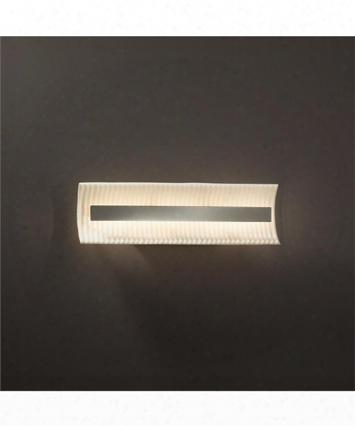 """Porcelina 21"""" Led 1 Light Bath Vanity Light In Brushed Nickel"""