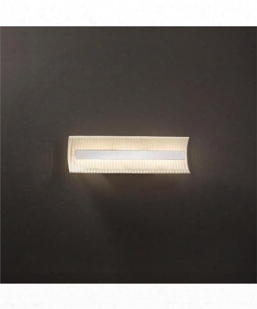 """Porcelina 21"""" Led 1 Light Bath Vanity Light In Polished Chrome"""