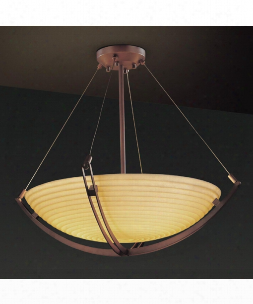 "Porcelina Crossbar 72"" 12 Light Large Pendant In Dark Bronze"