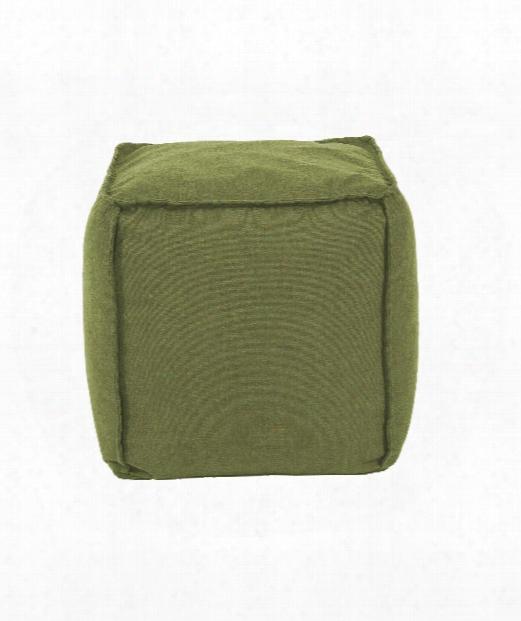 "Pouf 20"" Ottoman In Green"