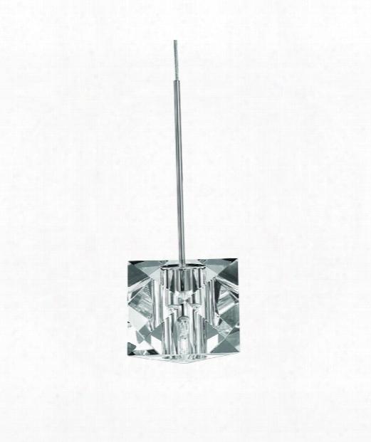 "Prisma 5"" 1 Light Mini Pendant In Brushed Nickel"