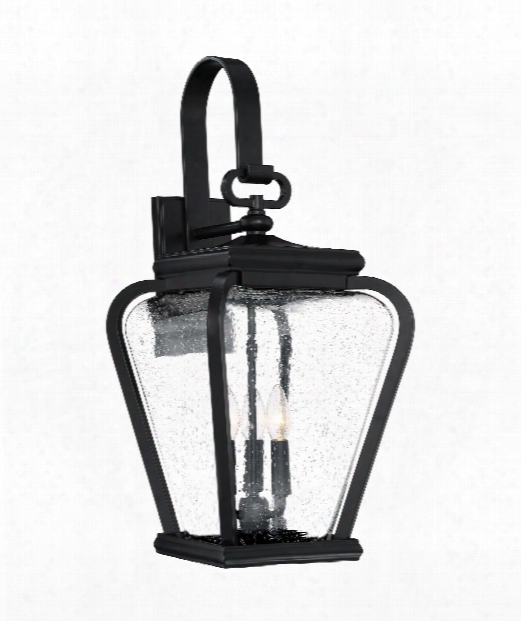 "Province 12"" 3 Light Outdoor Outdoor Wall Light In Mystic Black"