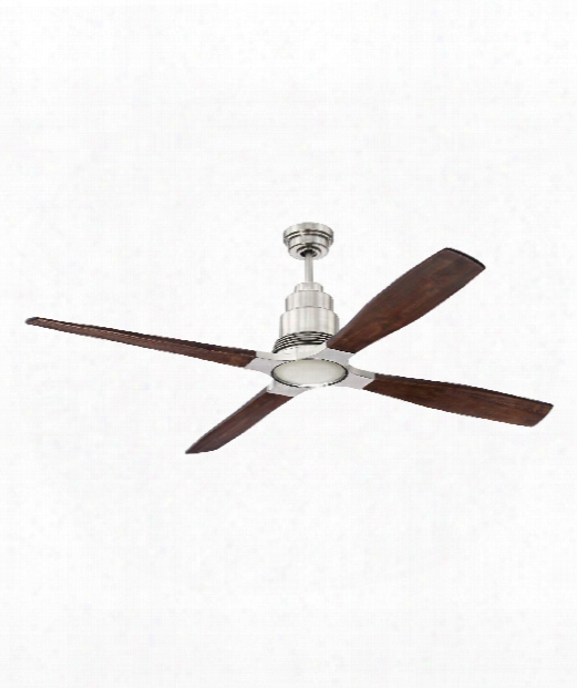 """Ricasso 60"""" Led 1 Light Ceiling Fan In Brushed Polished Nickel"""